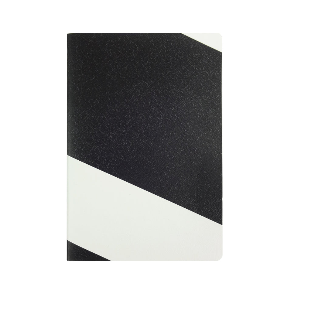 Black & White B5 Diary - Geometric Pattern