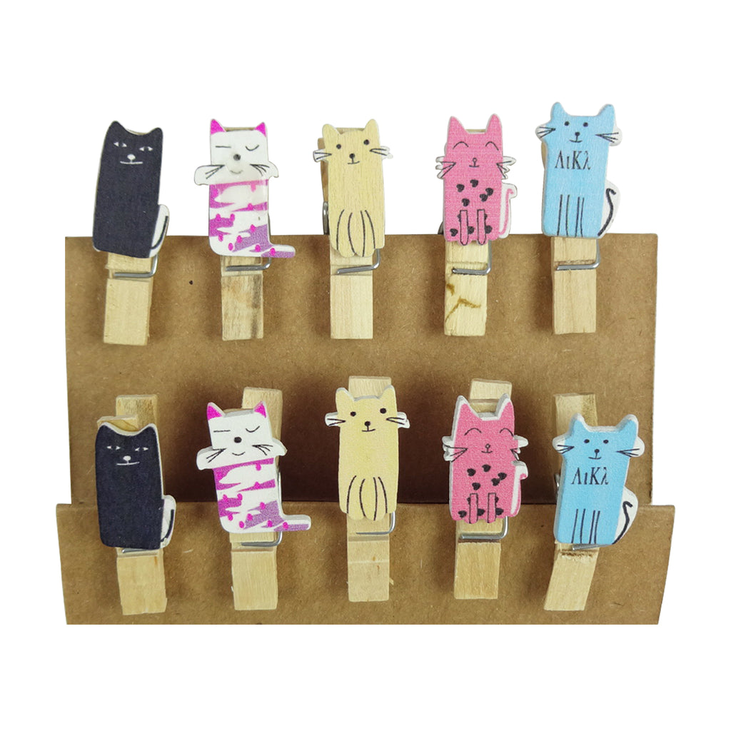 Wooden Clips - Cat