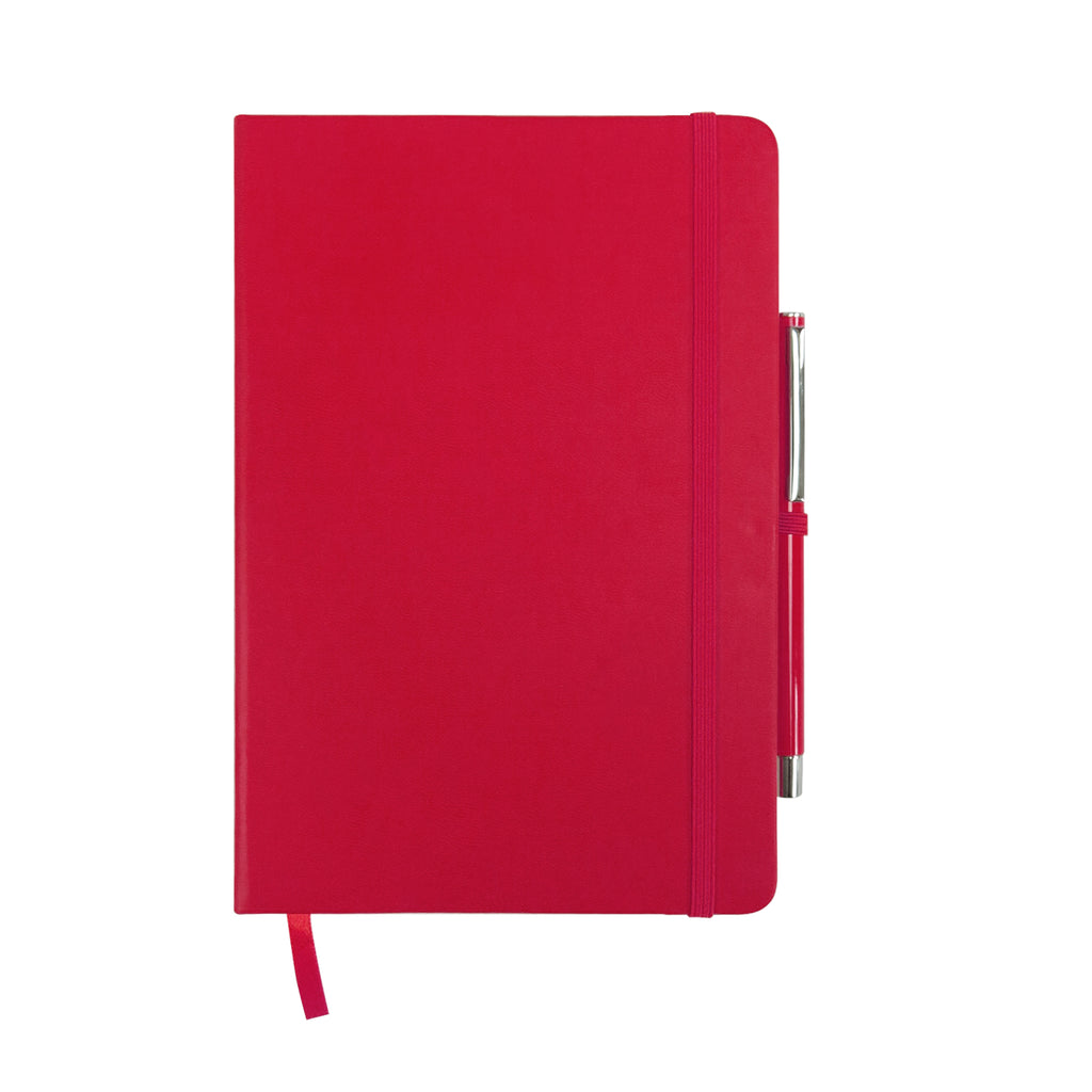 A5 Hardcover PU Diary - Red