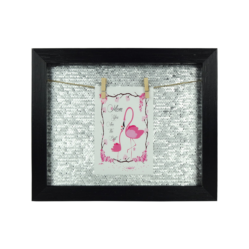 Small Sequin Photo Frame - Silver