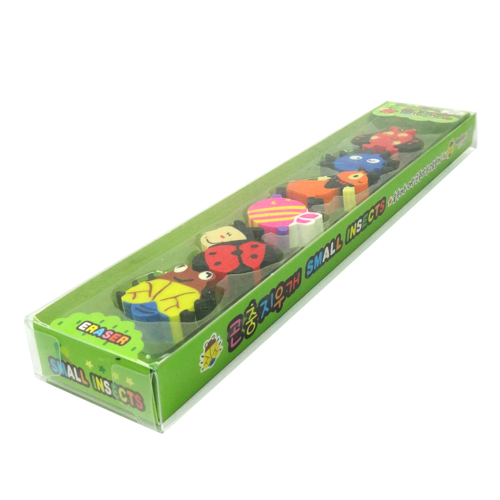 Silly Bugs Erasers - Set of 6 Green