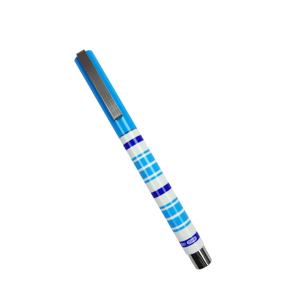 Blue Stripes Ink Pen