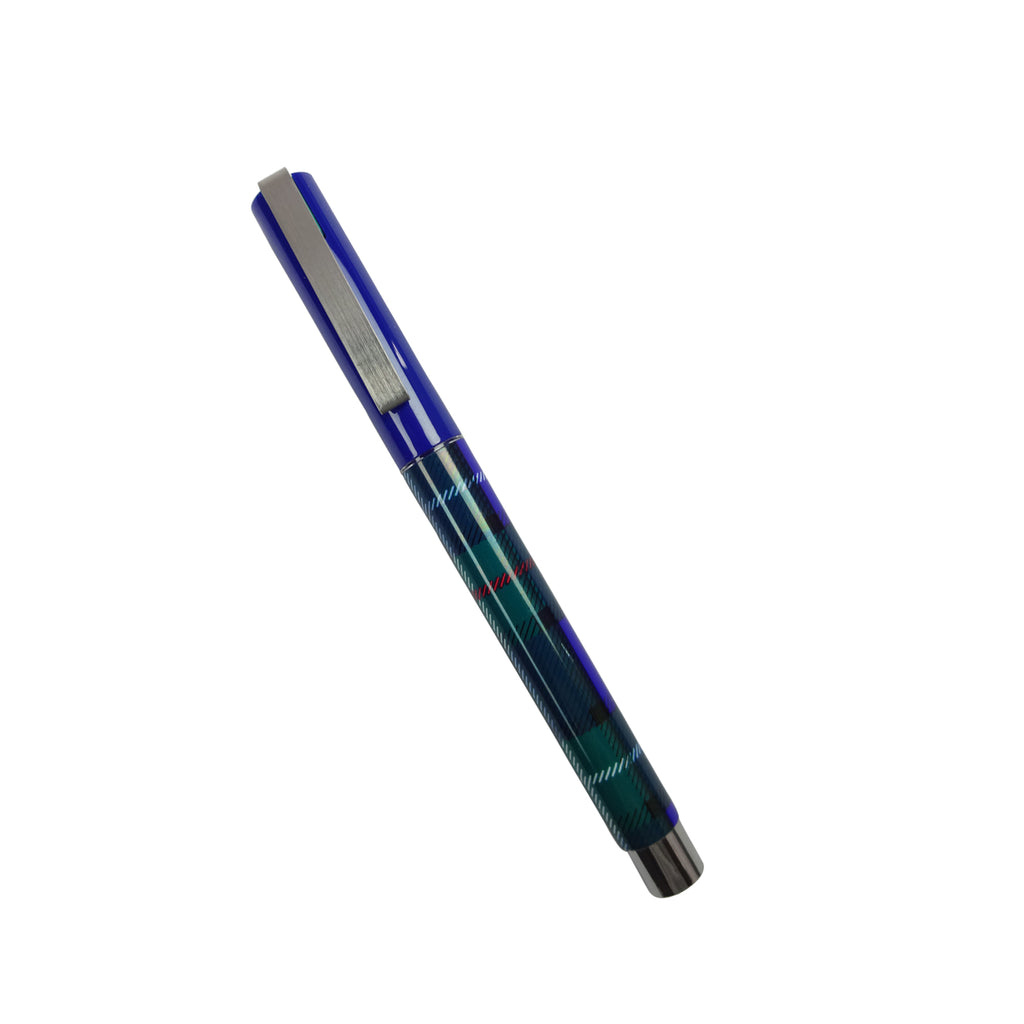 Blue Checks Ink Pen