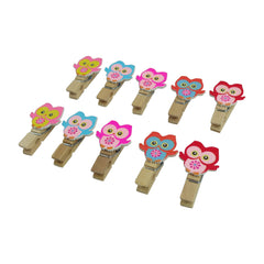 Wooden Clips - Owl