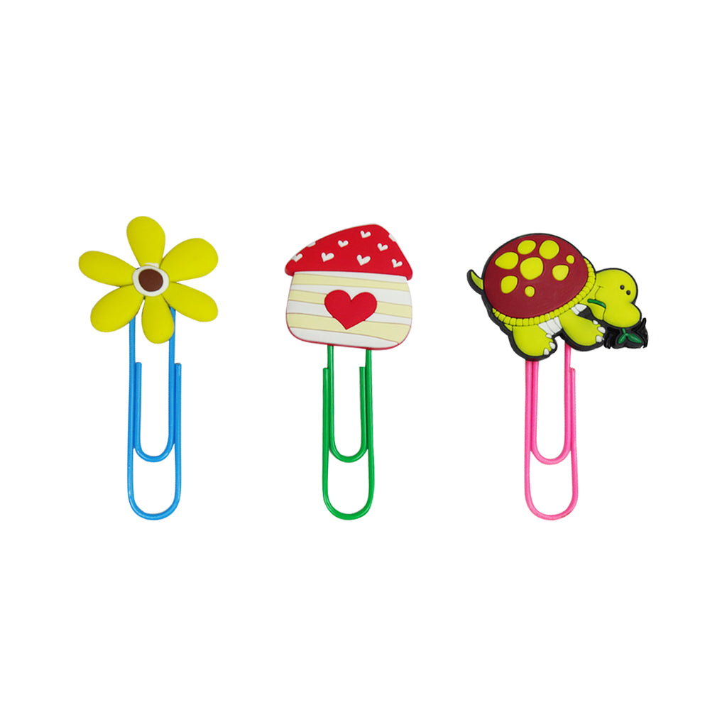 Turtle Mixed Design Paper Clip - Set of 3