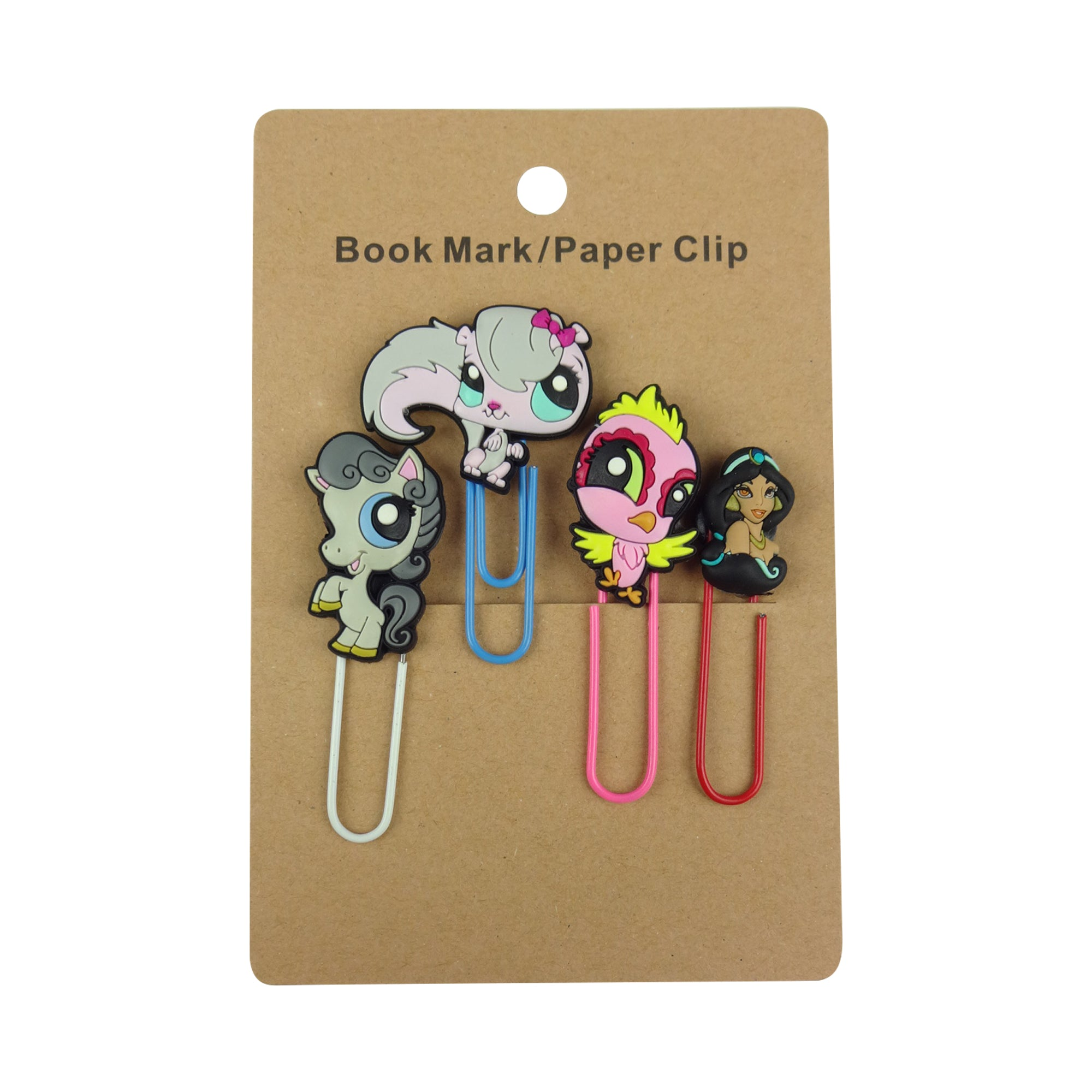 Jasmine Mixed Design Paper Clip - Set of 4