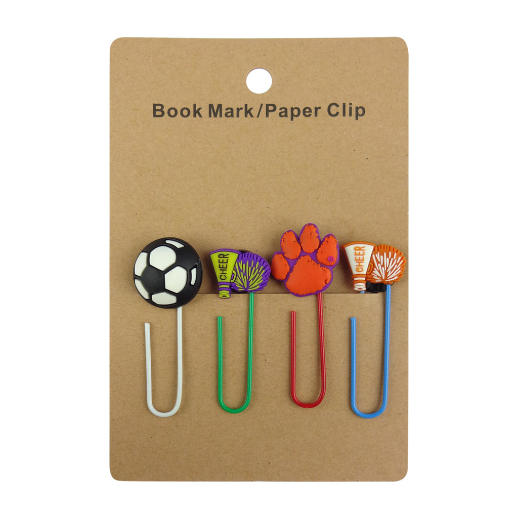 Football Mixed Design Paper Clip - Set of 4