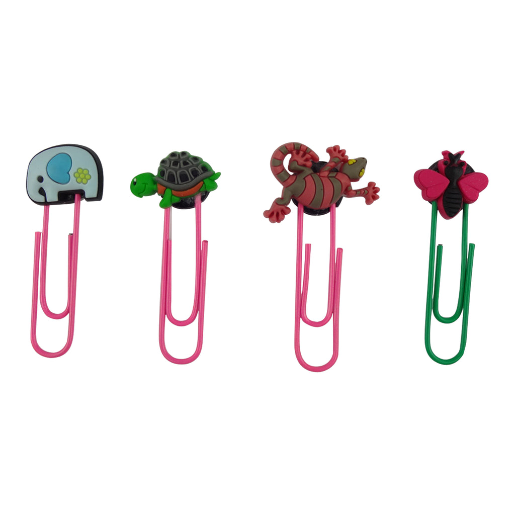 Elephant Mixed Design Paper Clip - Set of 4