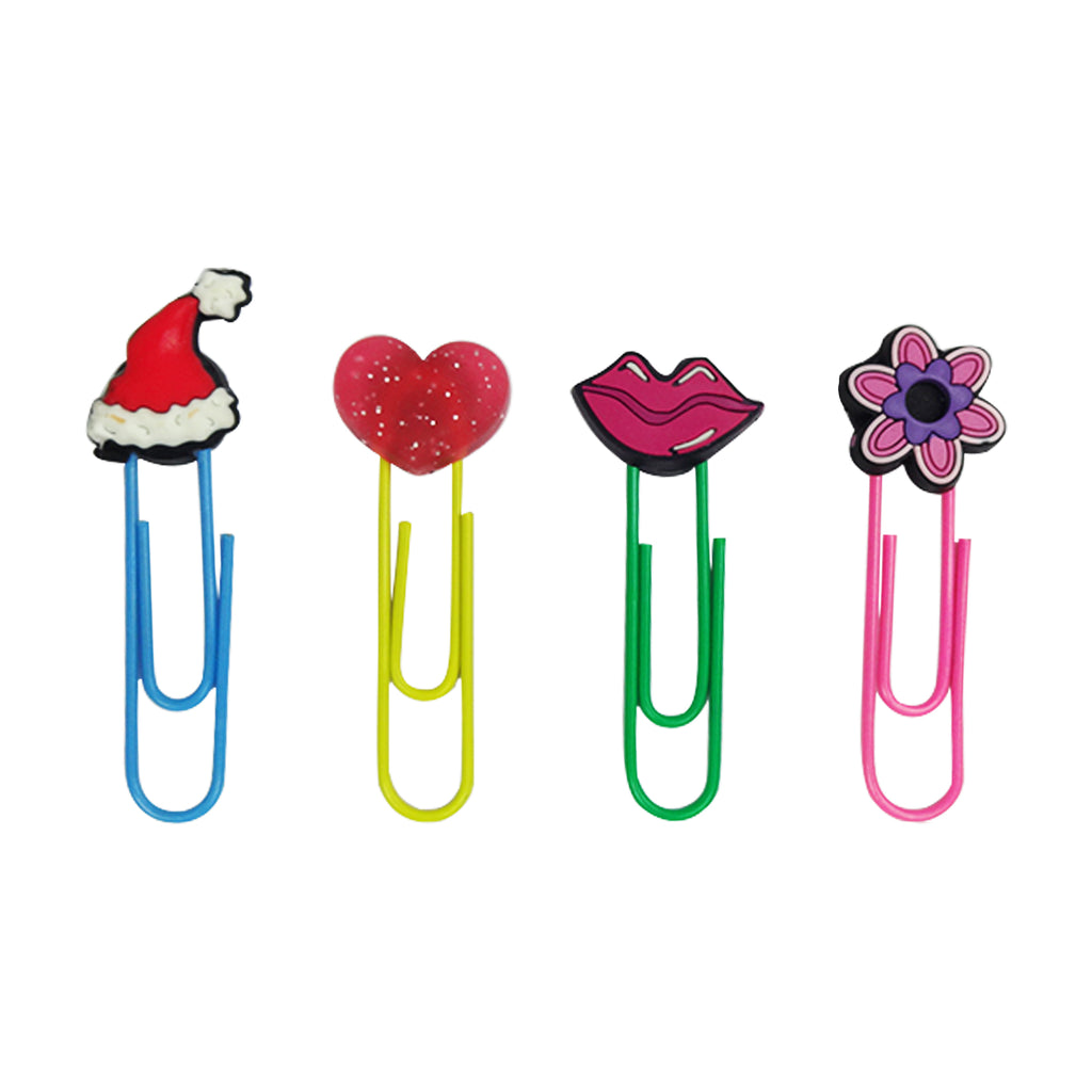 Heart Mixed Design Paper Clip - Set of 4