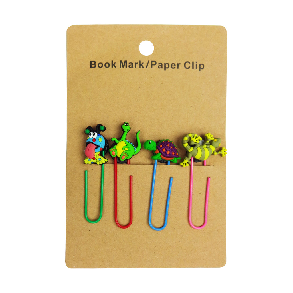 Lizard Mixed Design Paper Clip - Set of 4
