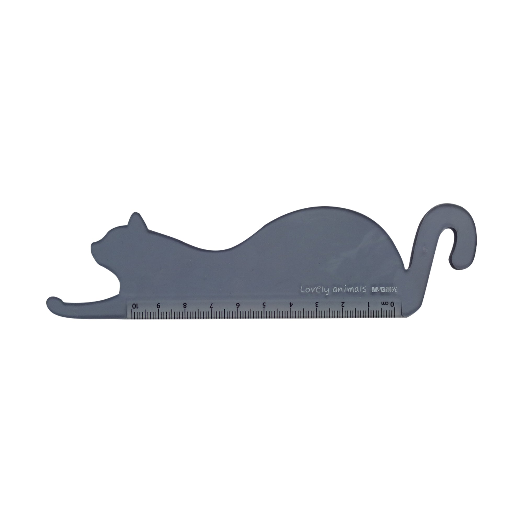 Plastic Ruler - Cat