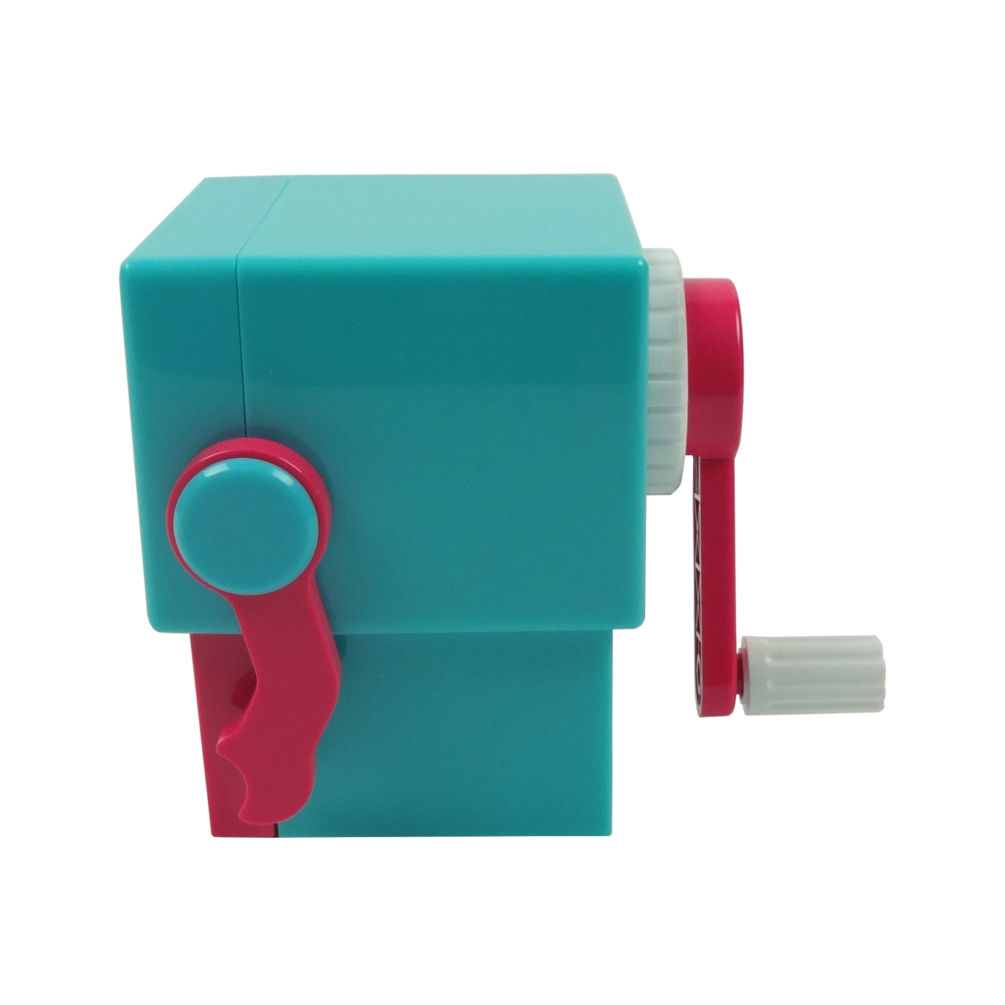 Plastic Pencil Sharpener - Winking Mr. Robot Pink