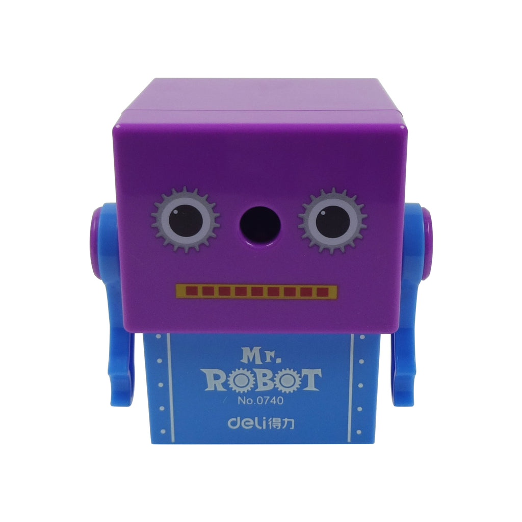 Plastic Pencil Sharpener - Serious Mr. Robot Blue