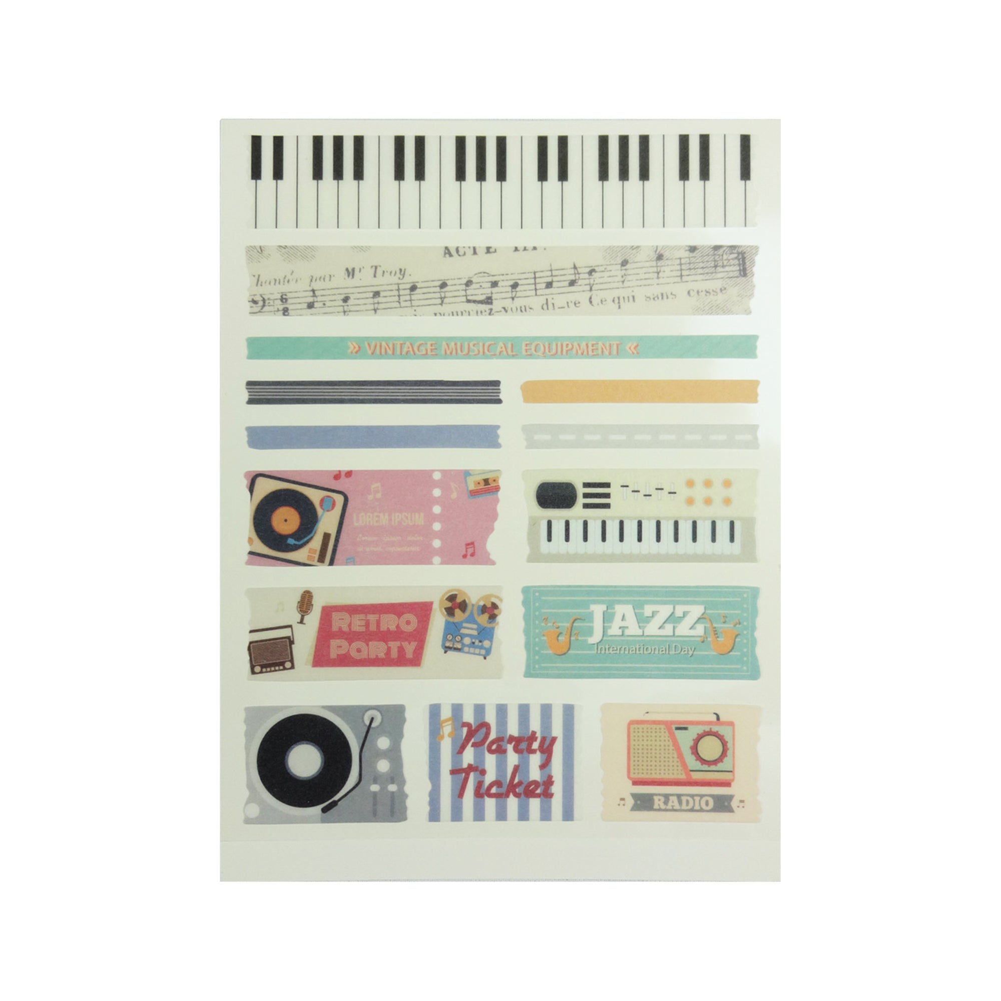 Vintage Musical Equipment Stickers