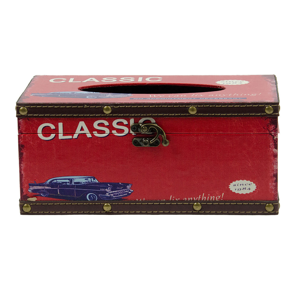 Retro Tissue Box - Classic Car