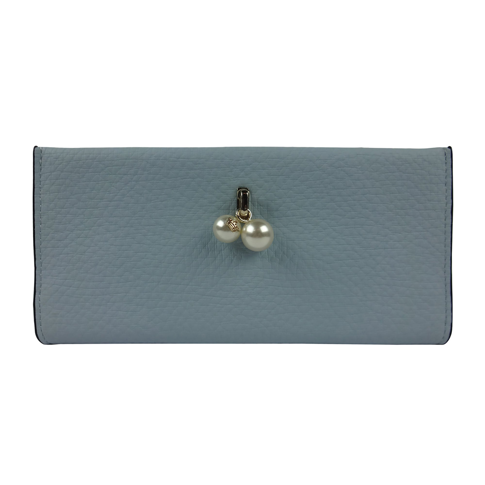 PU Wallet with Pearl - Blue