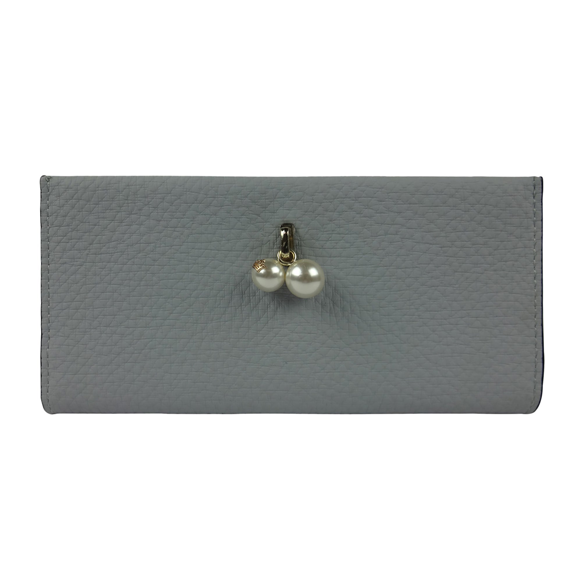 PU Wallet with Pearl - Grey