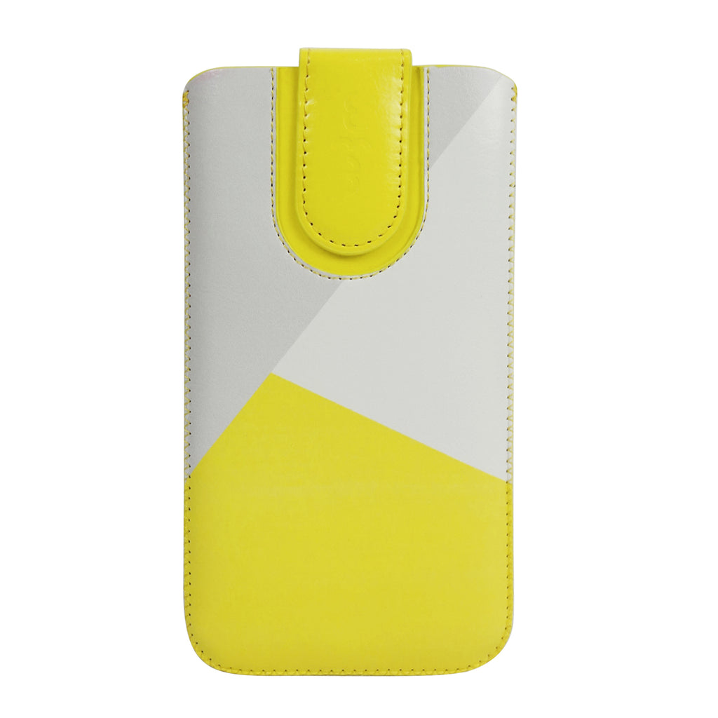Universal Phone Pouch - Yellow Grey Plain