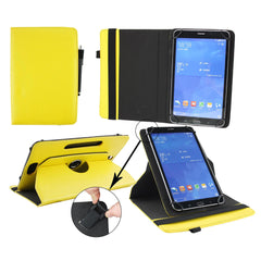 360° Rotating Universal Tablet Case - Yellow Plain