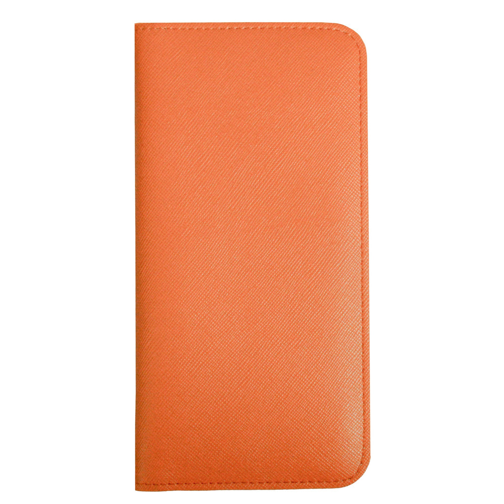 MAGNETIC PHONE WALLET CASE COVER- ORANGE PLAIN (LM2)