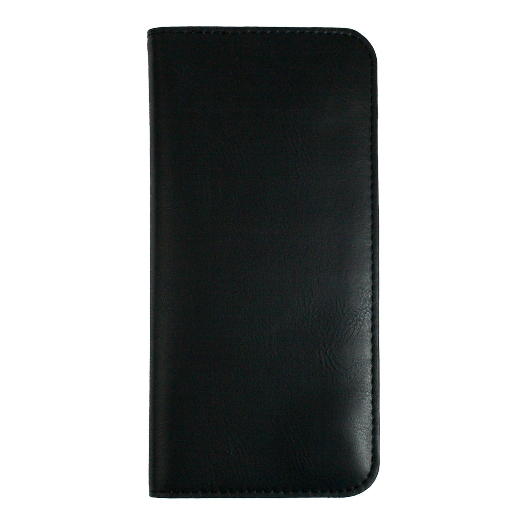 MAGNETIC PHONE WALLET CASE COVER- BLACK PLAIN (LM2)
