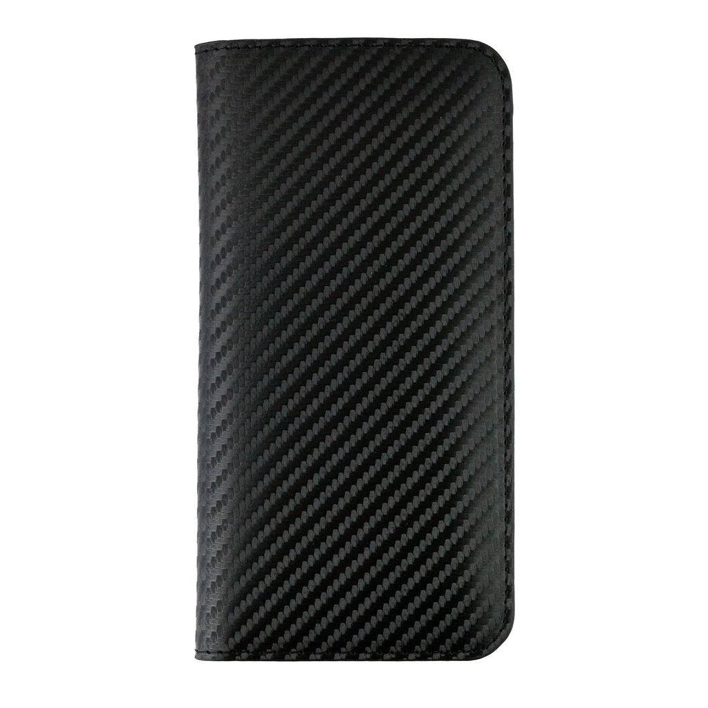 MAGNETIC PHONE WALLET CASE COVER- BLACK CARBON (LM2)