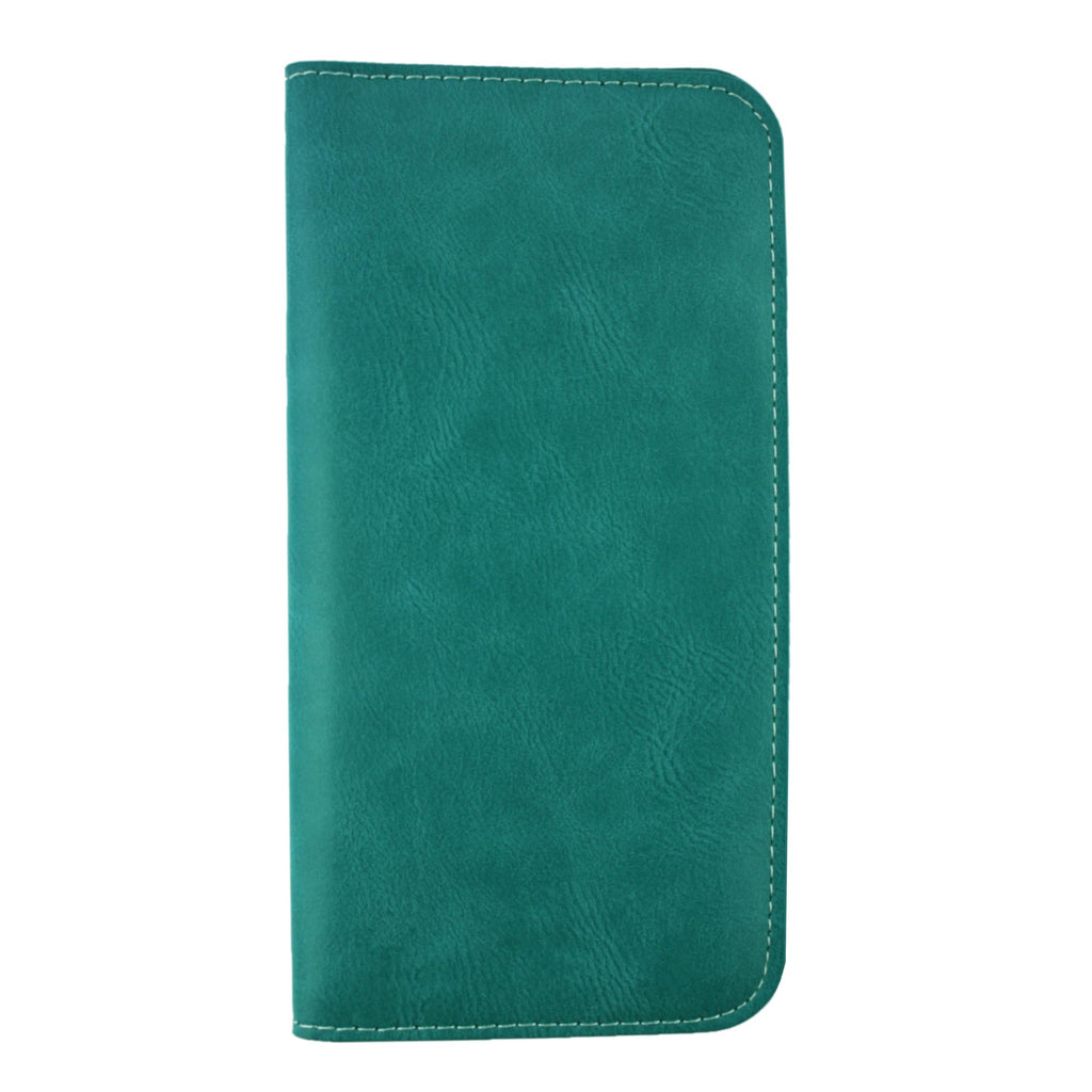 MAGNETIC PHONE WALLET CASE COVER- TURQUOISE PLAIN (LM4)