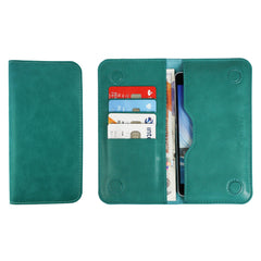 MAGNETIC PHONE WALLET CASE COVER- TURQUOISE PLAIN (LM2)