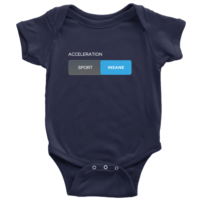 Baby Onesie - Insane Mode from tesla-shop.co