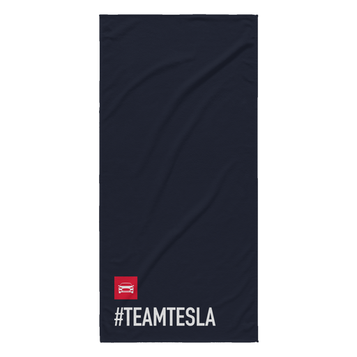 Beach Towel - Black - #TEAMTESLA from tesla-shop.co