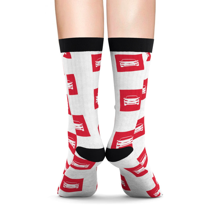Socks - Red Tesla from tesla-shop.co