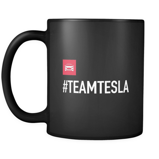 Black Mug - #TEAMTESLA (Limited edition) from tesla-shop.co