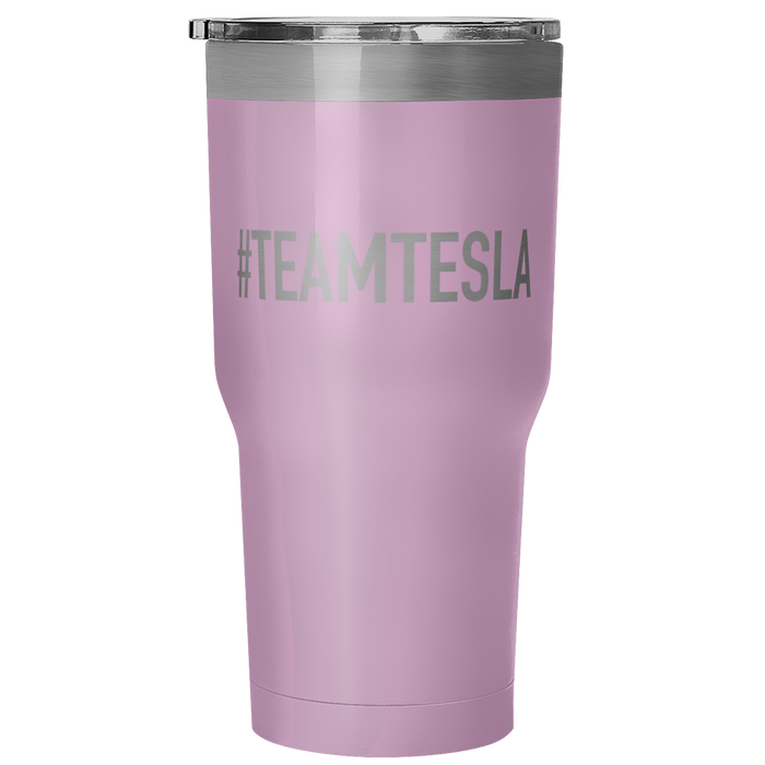 30 Ounce Vacuum Tumbler - #TEAMTESLA from tesla-shop.co