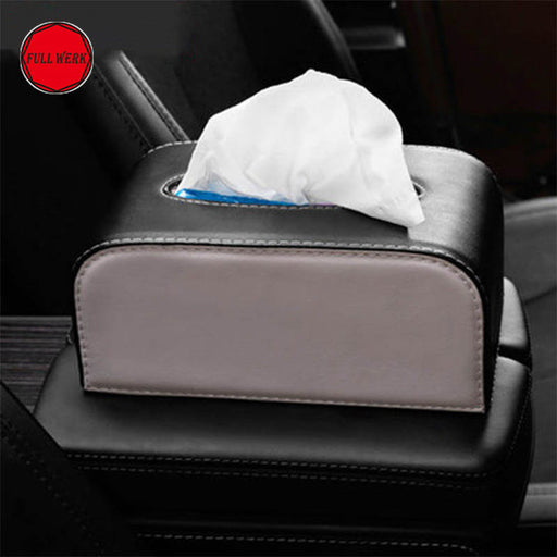 Leather Tissue Box for Tesla Model S & Model X from tesla-shop.co