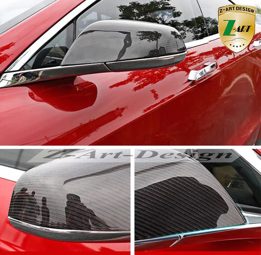 Carbon Fiber Mirror Cover for Tesla Model S, Model X from tesla-shop.co