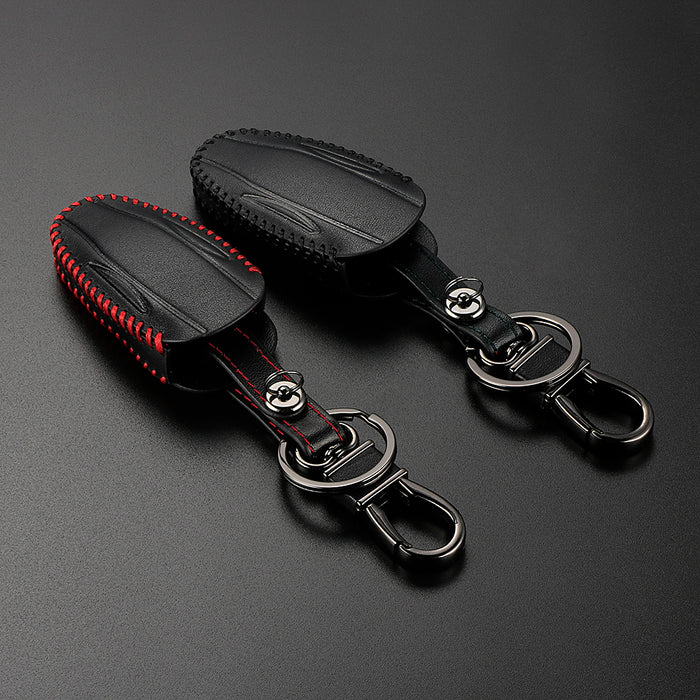 Leather Key Case for Tesla Model S & Model X from tesla-shop.co