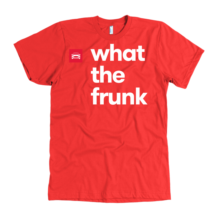 American Apparel T-shirt - what the frunk from tesla-shop.co