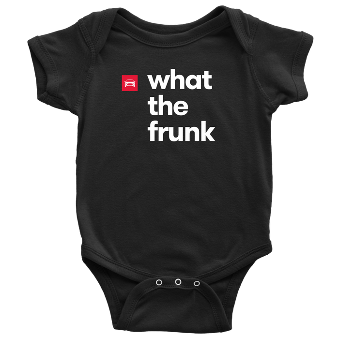 Baby Onesie - what the frunk from tesla-shop.co