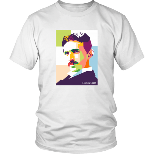 Nikola Tesla - Portrait T-shirt from tesla-shop.co