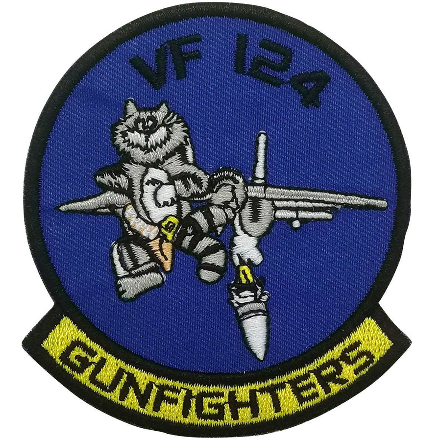 Pins Patches Lanyards Keychains - Fighter Squadron 124 (VF-124) - Gunfighters Embroidered Patch (Iron On Application)