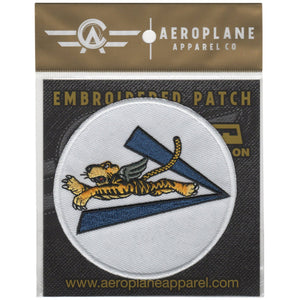 Pins Patches Lanyards Keychains - Flying Tigers V For Victory Embroidered Patch (Iron On Application)