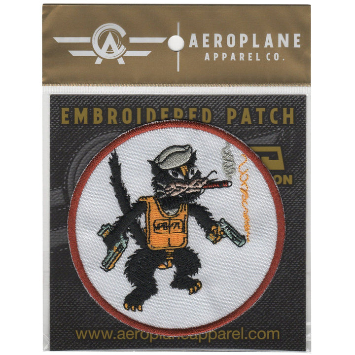 Pins Patches Lanyards Keychains - Patrol Bombing Squadron 71 (VPB-71) - Black Cats Embroidered Patch (Iron On Application)