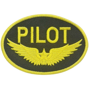 Pins Patches Lanyards Keychains - Pilot Gold Wings Embroidered Patch (Iron On Application)