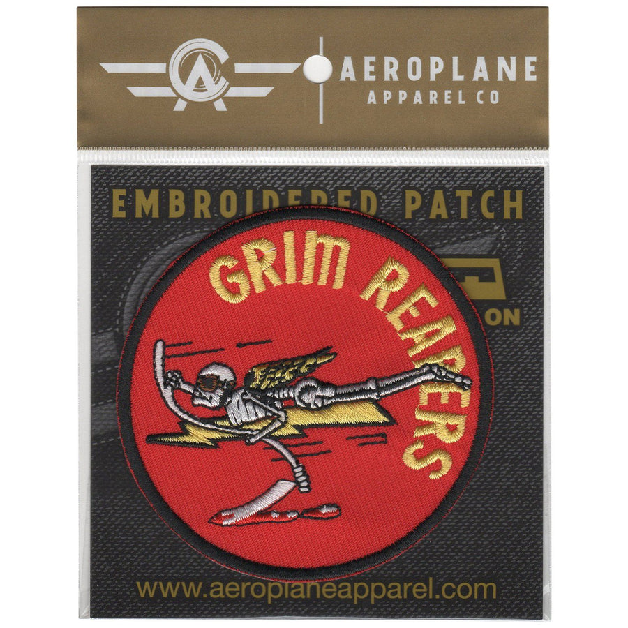 Pins Patches Lanyards Keychains - Strike Fighter Squadron 101 (VFA-101) - Grimm Reapers Embroidered Patch (Iron On Application)