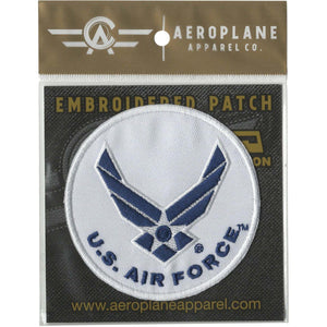 Pins Patches Lanyards Keychains - U.S. Air Force Round Embroidered Patch (Iron On Application)
