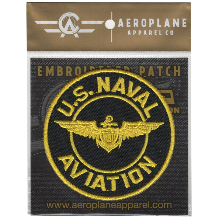 Pins Patches Lanyards Keychains - U.S. Naval Aviation Embroidered Patch (Iron On Application)