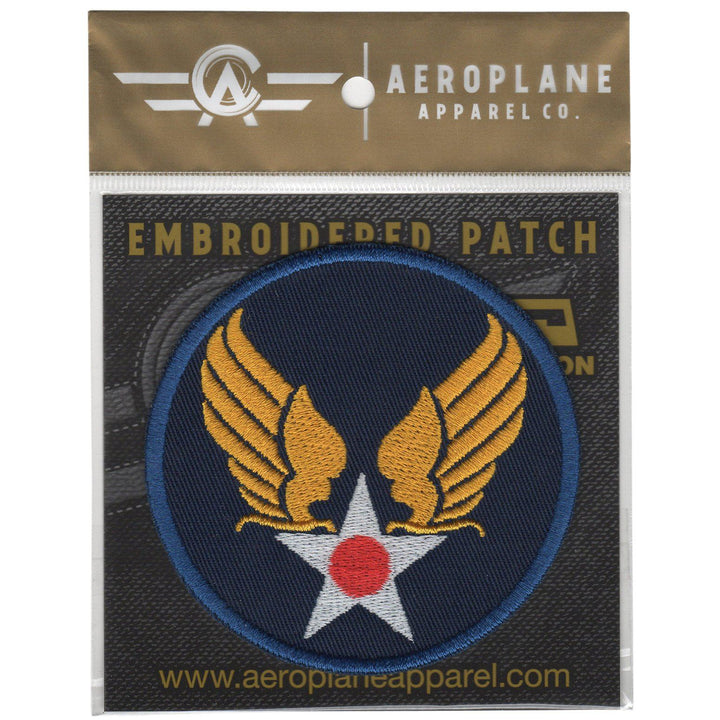 Pins Patches Lanyards Keychains - United States Army Air Forces Hap Arnold Wings Embroidered Patch (Iron On Application)