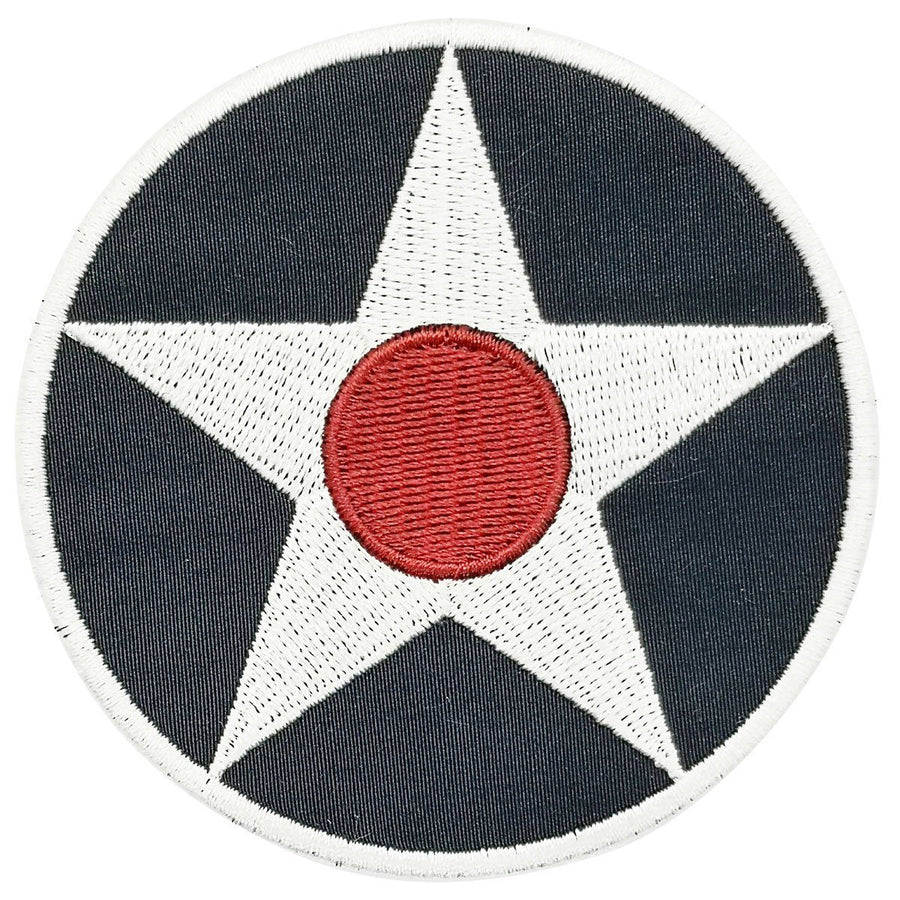 Pins Patches Lanyards Keychains - USAF Roundel 1919-1942 Embroidered Patch (Iron On Application)