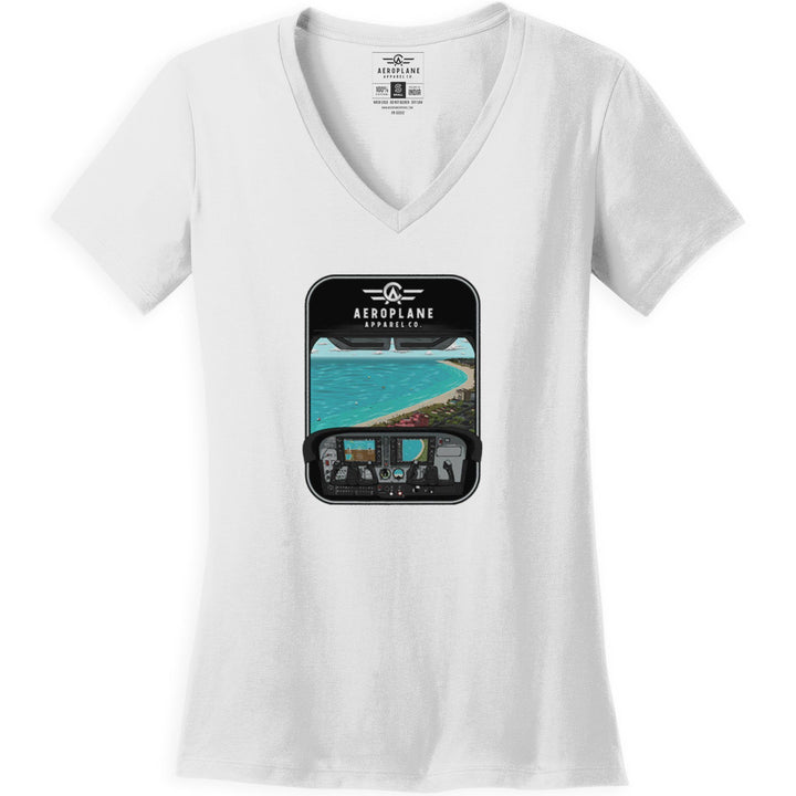 Shirts - 172 Over St Pete Beach Aeroplane Apparel Co. Women's T-Shirt