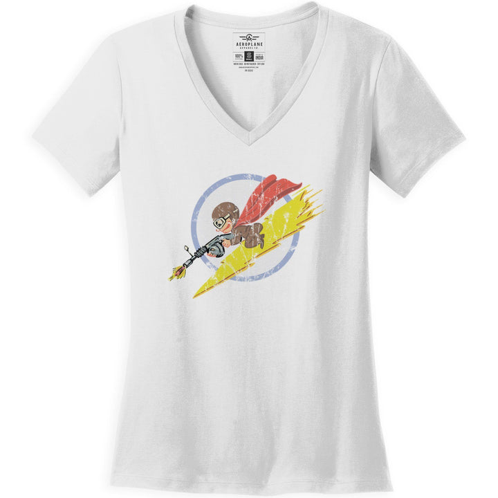 Shirts - 340th Fighter Squadron Aeroplane Apparel Co. Women's T-Shirt